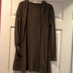 olive green hooded sweater